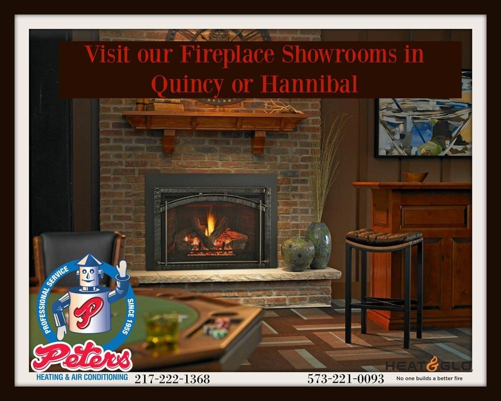 Visit our Fireplace Showrooms in Quincy or Hannibal